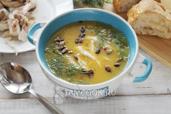 Фото тыквенного супа-пюре с курицей