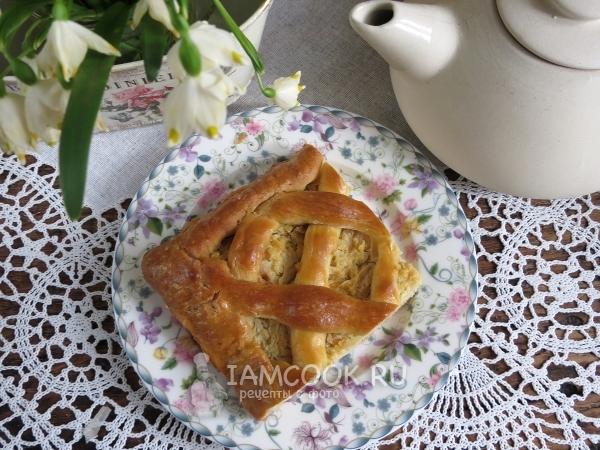 Рецепт пирога с капустой без дрожжей