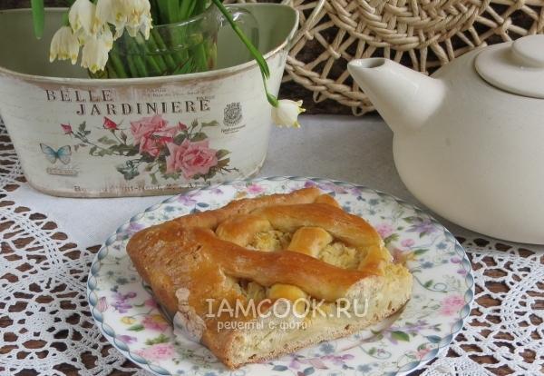 Фото пирога с капустой без дрожжей