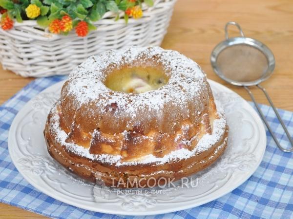 Фото заливного пирога с творогом