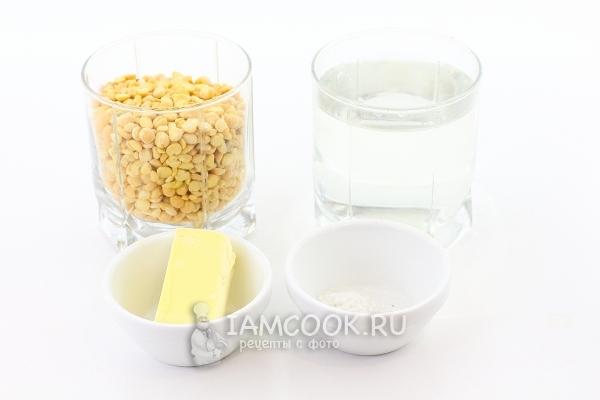 Ингредиенты для гороховой каши в мультиварке-скороварке