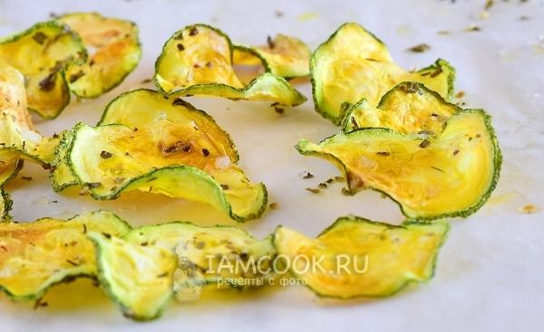 Рецепт чипсов из кабачков в духовке