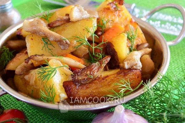 Рецепт тушеной картошки с вешенками