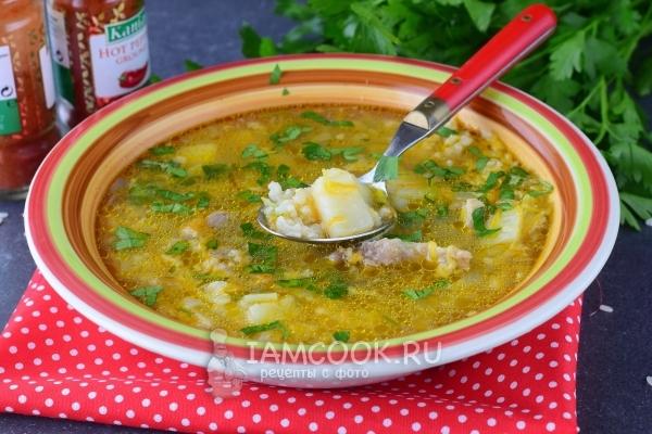 Рецепт супа с рисом, картофелем и мясом