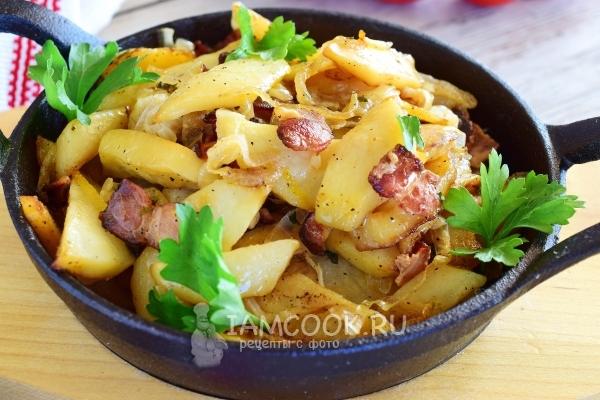 Фото жареной картошки с беконом
