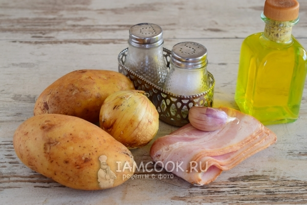 Ингредиенты для жареной картошки с беконом