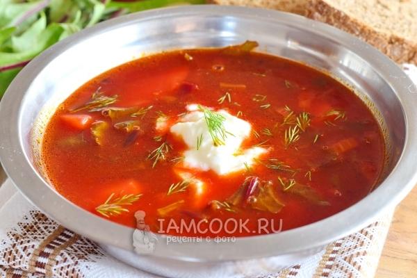 Рецепт супа со свекольной ботвой