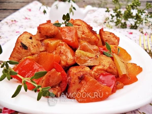 Рецепт овощного рагу с куриной грудкой