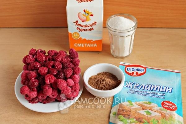 Ингредиенты для сметанного десерта с желатином