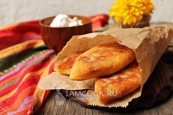 Рецепт жареных картофельных пирожков с мясо