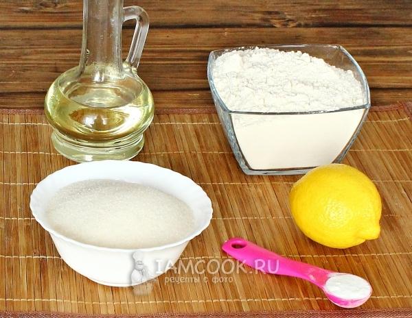 Ингредиенты для постного лимонного пирога