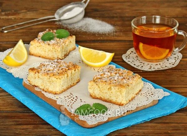 Фото постного лимонного пирога