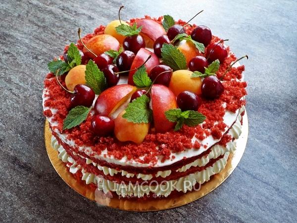 Рецепт торта «Красный бархат» с сырно-сливочным кремом