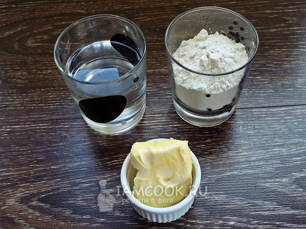 Ингредиенты для лепёшек без дрожжей на сковороде