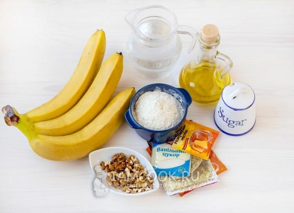 Ингредиенты для постного бананового пирога