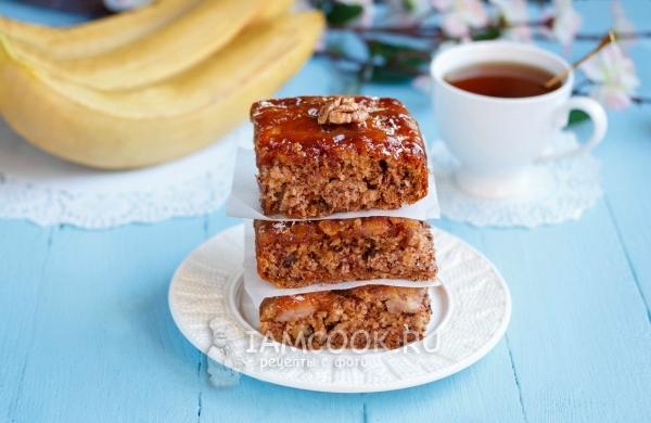 Рецепт постного бананового пирога