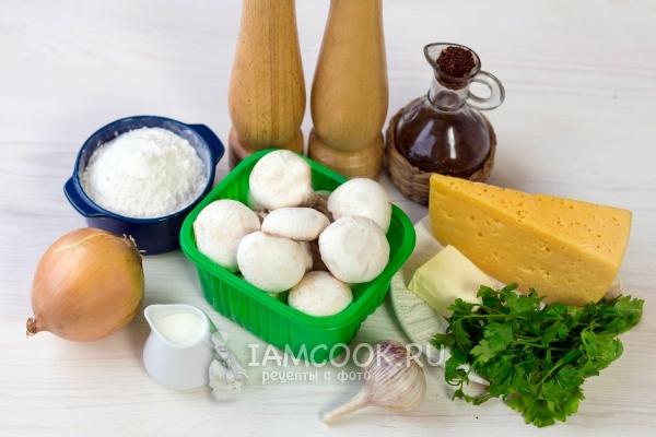 Ингредиенты для жульена (жюльена) с грибами