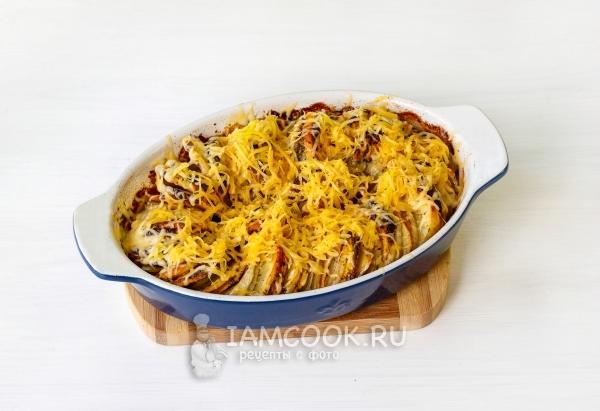Тыква, запеченная с картошкой в духовке