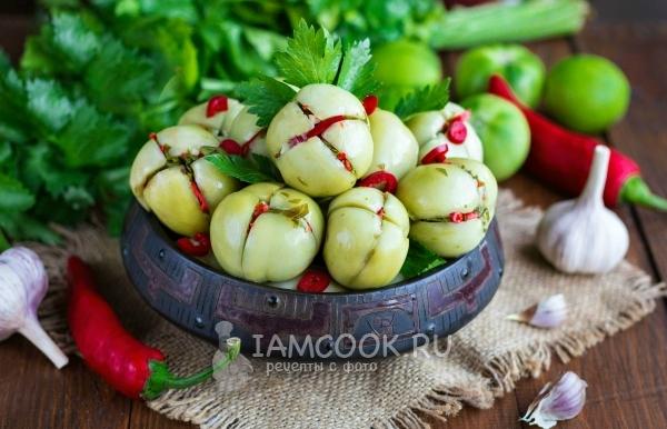 Рецепт зеленых помидоров по-грузински