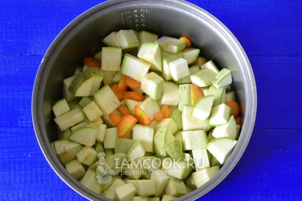 Положить овощи в мультиварку