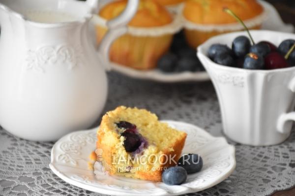 Рецепт маффинов с ягодами на рисовой муке