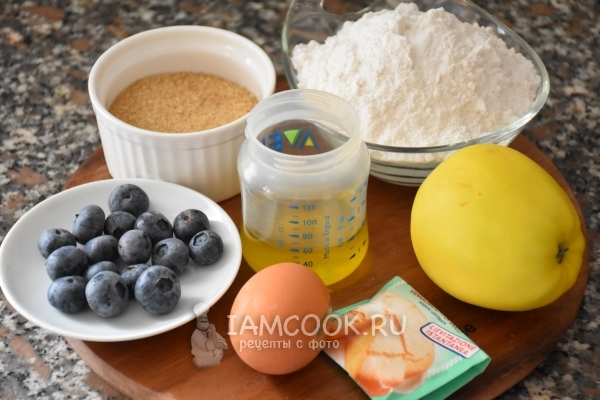 Ингредиенты для маффинов с ягодами на рисовой муке
