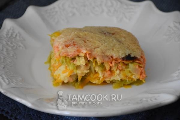 Рецепт запеканки с овощами, сыром и фаршем из индейки