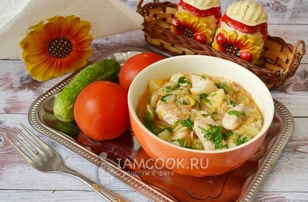 Рецепт тушеной свинины с капустой и картошкой