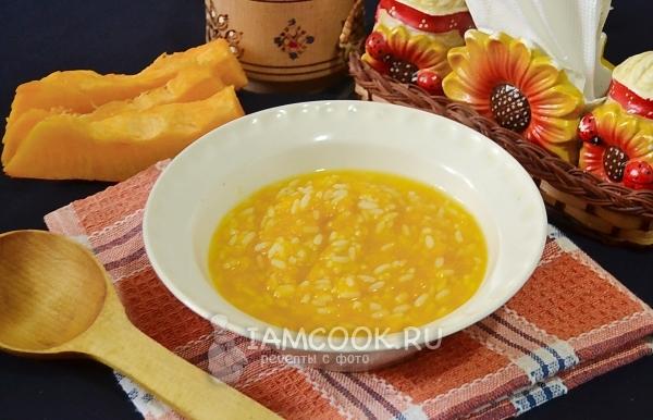 Фото рисовой каши с тыквой на воде