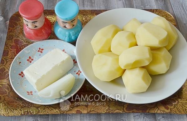 Ингредиенты для жареной картошки на сливочном масле