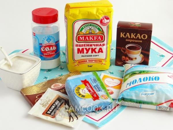 Ингредиенты для кекса в микроволновке без яиц