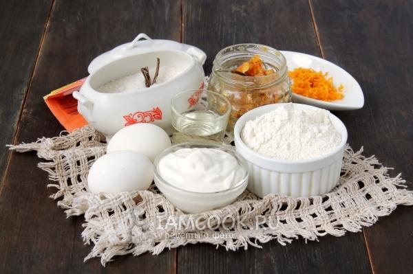 Ингредиенты для маффинов на сметане