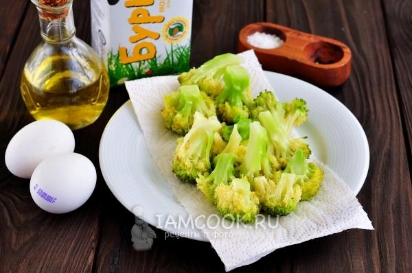 Ингредиенты для омлета с брокколи на сковороде