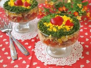 Салат снежинка рецепт с фото изоражения