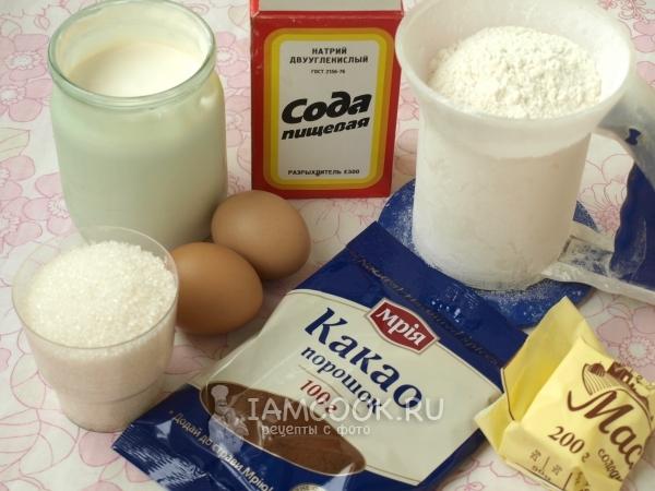 Ингредиенты для торта «Графские развалины» со сметаной