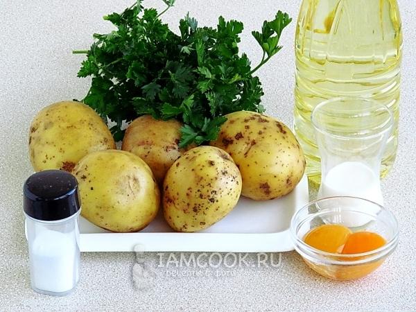 Ингредиенты для картофельных пышек