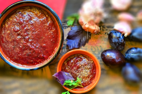 Рецепт соуса ткемали на зиму