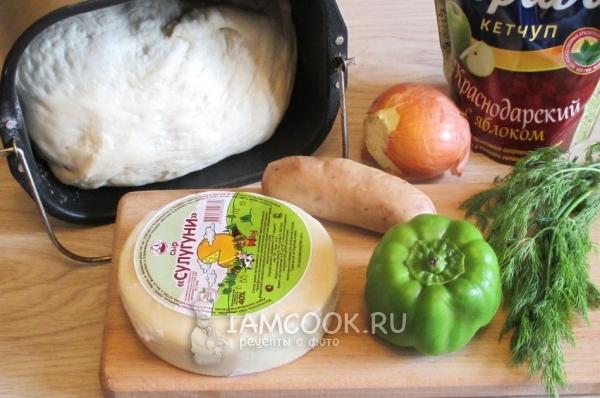 Ингредиенты для пиццы с сыром сулугуни