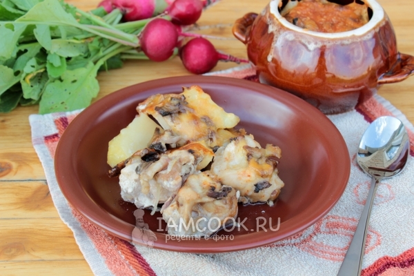 Рецепт мяса с картошкой в горшочках в духовке