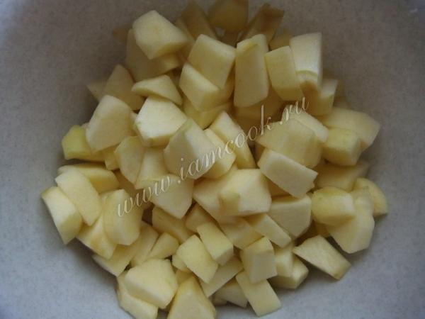 Яблоки резанные