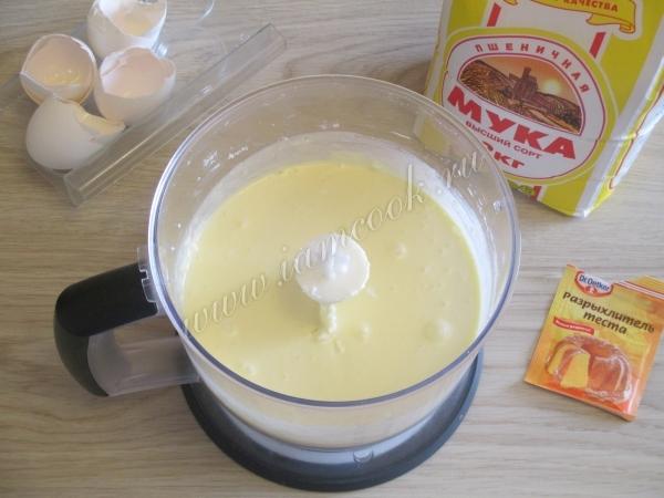 Жидкое творожное тесто для кекса