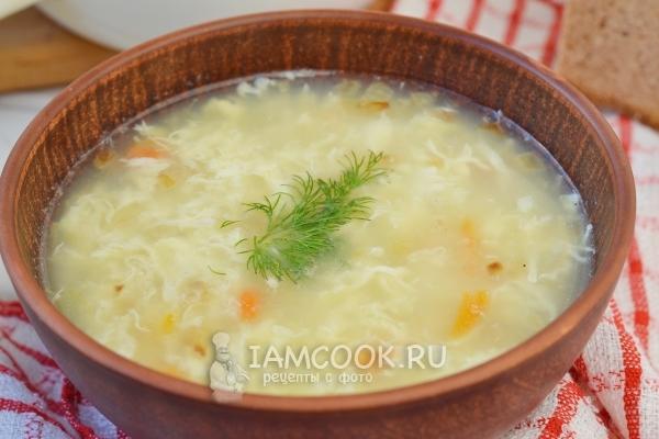 Рецепт супа с яйцом