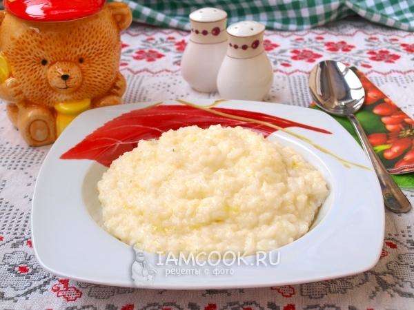 Рецепт рисово-пшенной каши на молоке