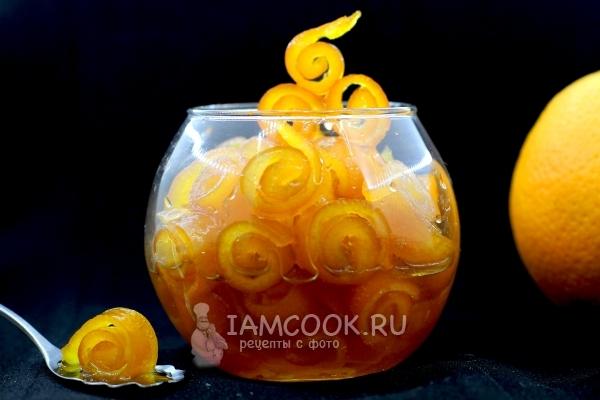 Рецепт варенья из апельсиновых корок, завитушки