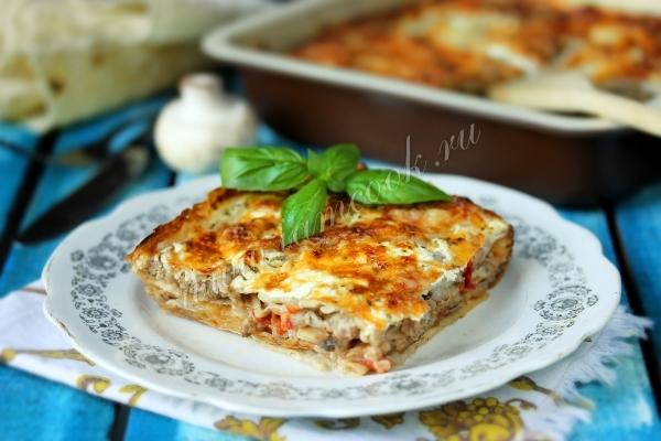 Рецепт ленивой лазаньи с лавашом