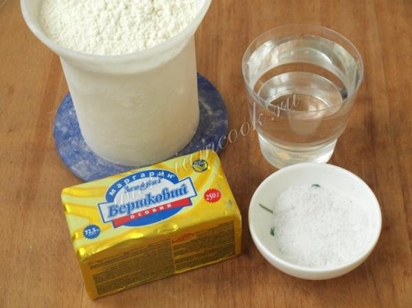 Ингредиенты на тесто для чебуреков