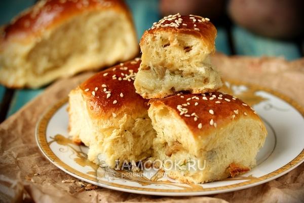 Фото пирожков печёных с картошкой и шампиньонами в духовке