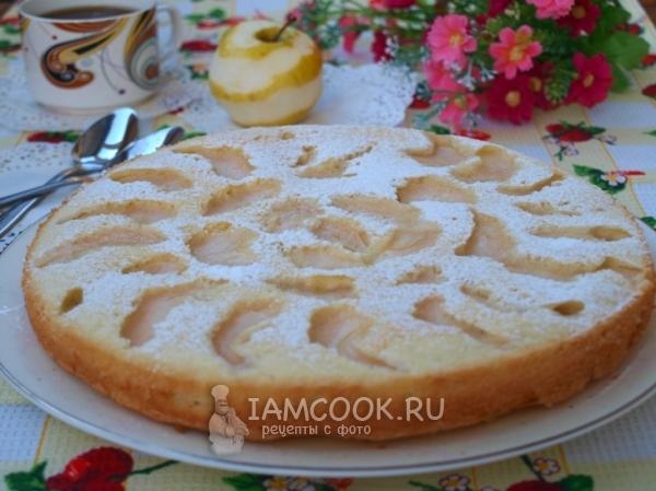 Фото бисквита с яблоками