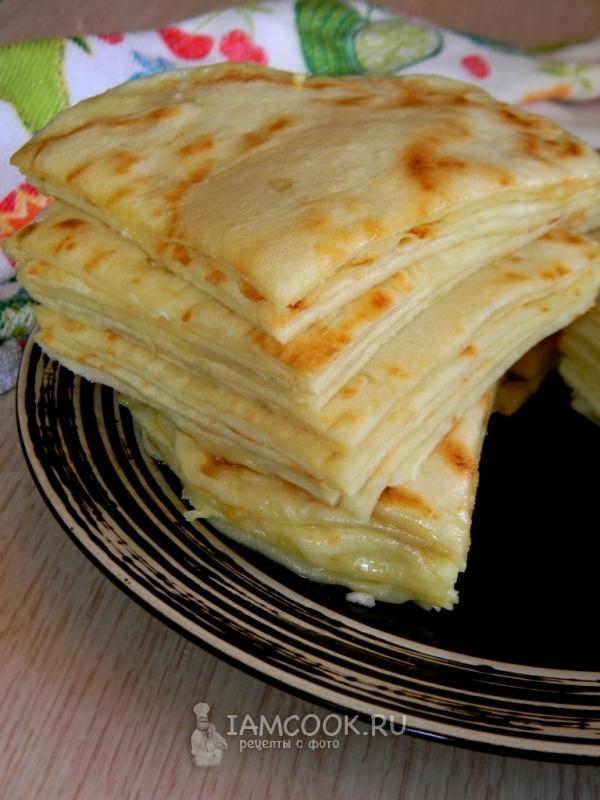 Рецепт хычинов с сыром и картофелем