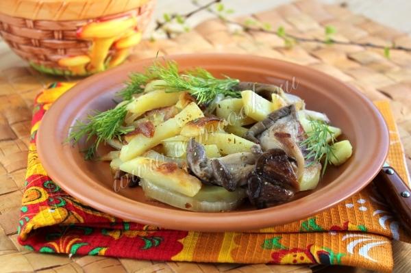 Рецепт вешенок жареных с картошкой